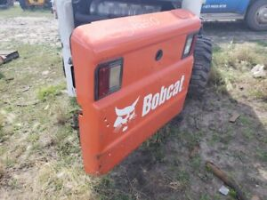 Bobcat S300 Skid Steer Rear Engine Access Door W latch And Lights P n 6729991
