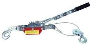 Torin Big Red Come along Double Gear Hand Cable Puller With 2 Hooks 2 Ton 4 00