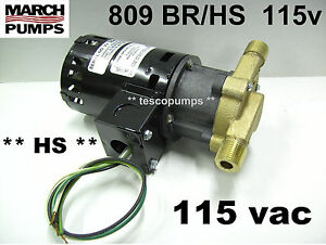 March 809 Br hs 115v Hot Water Pump 0809 0058 0100
