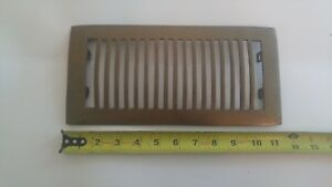 Art Deco Reclaimed Brass Grate Vent Rounded Top Very Rare Register