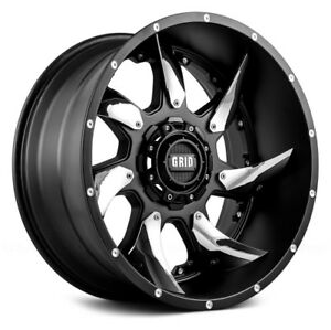 Grid Wheels Gd01 20 9 0 Matte Black W chrome Inserts 8 170 Off 12