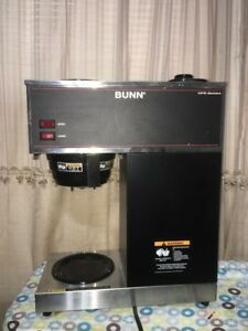 Bunn 33200 0000 Vpr Black 12 Cup Pourover Coffee Brewer With 2 Warmers 120 V