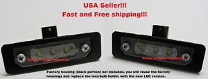 White 6000k Led License Plate Lights Lamps For 2011 2012 Ford Fusion