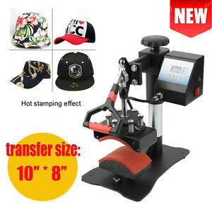 Cap Heat Press Transfer Sublimation Machine Swing Away Steel Frame Clamshell Tb