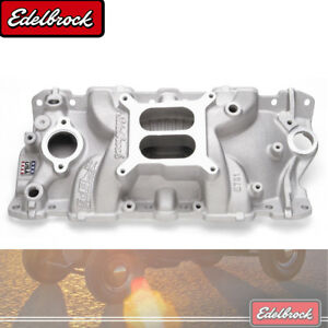 Edelbrock 2701 Performer Eps Intake Manifold For 55 86 Small Block Chevy