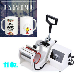 Digital Transfer Sublimation Cup Coffee Mug Heat Press Printing Machine 11 Oz