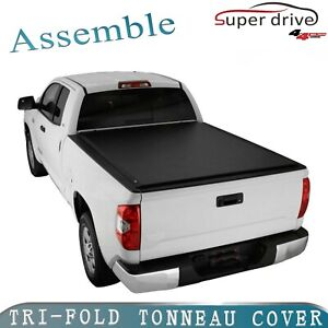 07 13 Chevy Silverado Gmc Sierra 5 8ft Bed Lock Tri Fold Assemble Tonneau Cover