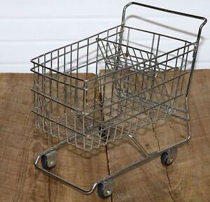 Wire Shopping Cart Doll Sized Counter Display Model Small Store About 12 Long