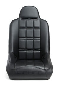 Black Leatherette fabric Cipher Auto Universal Fixed Back Suspension Truck Seat
