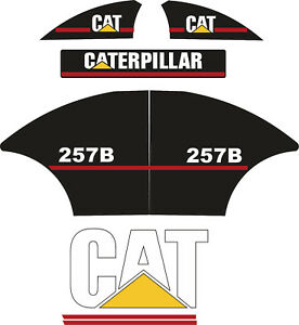 Caterpillar 252b Decal Kit Decals Old Style Od Cat