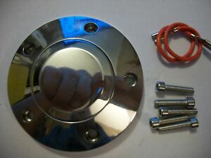 Forever Sharp Polished Billet 5 Hole Aluminum Steering Wheel Horn Button Kit Hp5