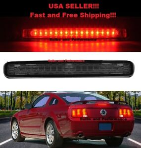 Smoked Lens Led Third 3rd Brake Light Lamp For 2005 2009 Ford Mustang