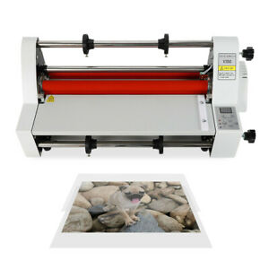 13 laminator Four Rollers Hot And Cold Roll Laminating Machine 350mm 110v
