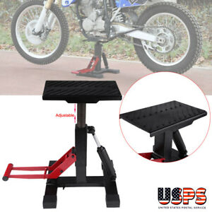 Adjustable Steel Portable Motorcycle Motocross Dirt Bike Lift Jack Stand 330lbs