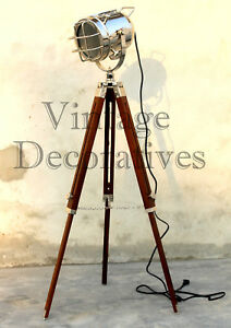 Nautical Spotlight Maritime Hollywood Searchlight With Adjustable Tripod Stand