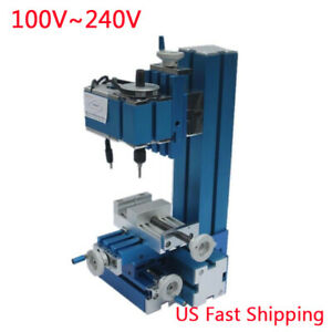 Mini Milling Machine Diy Woodworking Metal Aluminum Processing Tool 100v 240v