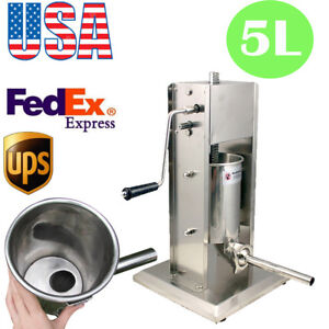 5l Vertical Commercial Home Sausage Stuffer 11lb Fast Speed Stainless Meat Press