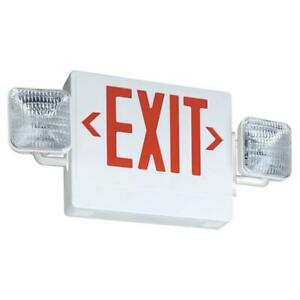 Lithonia Lighting Thermoplastic Led Emergency Exit Sign fixture Unit Combo