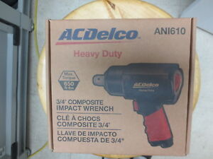 Acdelco Ani610 3 4 Inch Composite Impact Wrench 650 Feet Pound Heavy Duty