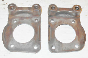 1965 1966 1967 Mustang Gt Shelby Cougar Orig Disc Brake Caliper Spindle Brackets