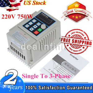 220v 0 75kw Single To 3 phase Motor Governor Variable Frequency Drive Inverte Us
