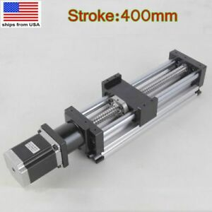 400mm 16 Cnc Linear Rail Guide Slide Stage Actuator Ball Screw Slide W Motor