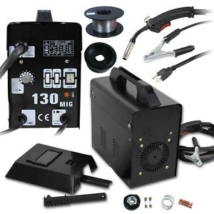 130 Mig Welder Flux Core Welding Machine Automatic Feed Wire Automatic Free Mask