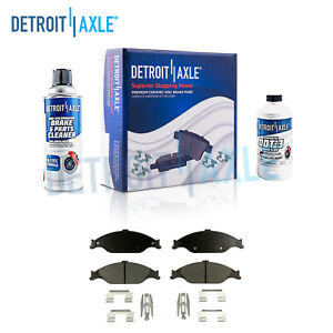 Front Ceramic Brake Pads W Clips 1999 2000 2001 2002 2003 2004 Ford Mustang Gt