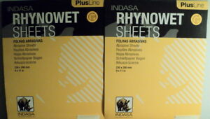 Two Pack Indasa Plus 100 Grit 9 X 11 Wet dry Sandpaper 100 Sheets Total