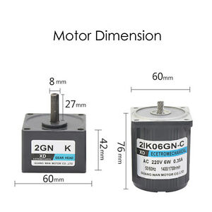 2ik06gn c 6w Ac220v Gear Motor Low Speed High Torque Motor Cw ccw With Capacitor