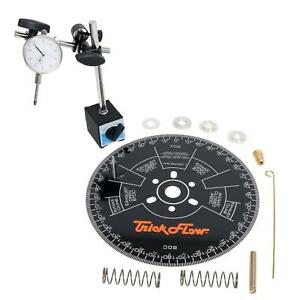 Trick Flow Specialties Cam Degree Kit 11 Wheel Magnetic Base Dial Indicator