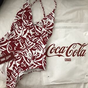 KITH x COCA-COLA SWIM ONE PIECE RED WHITE SMALL LIMITED 100% AUTHENTIC