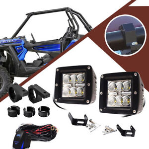 Pods Cube Led Driving Fog Lights W Mount Bracket Wiring For Tacoma 4wd 2wd 05 15
