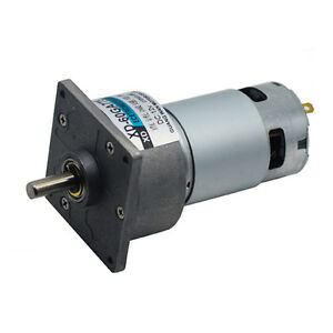 Dc12 24v 35w 60ga775 Gear Motor Adjustable Speed With Square Flange Plate Gearbo