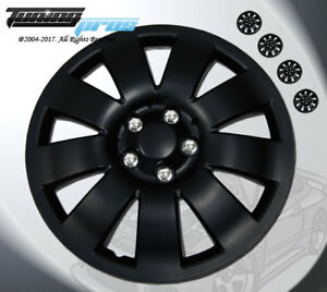 17 Inch Matte Black Hubcap Wheel Cover Rim Covers 4pc Style Code 721 17 Inches