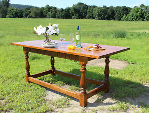 Gorgeous Antique Oak Tavern Farm House Dining Table C1920s Best On Ebay