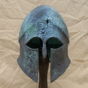 Life Size Bronze Ancient Greek Bronze Helmet Museum Quality Replica Reproduction