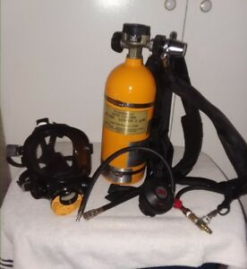 Luxfer 2 Air Tank Respirator With 3m Full Face Mask