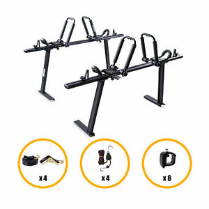 Universal Truck Ladder Rack W 2 Pair Folding Kayak Roof Carrier Rack Ford Dodge