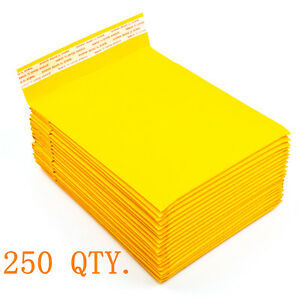 250 0 6 X 10 Kraft Bubble Mailers Padded Envelopes Bags Shipping Case New