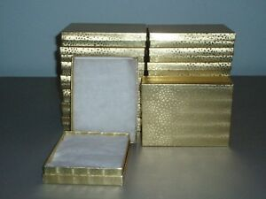 Gold Foil Cotton Filled Gift Box Jewelry Wholesale Case Of 50 Pcs New Us Sell