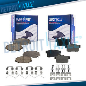 Front Rear Ceramic Brake Pads For 2013 2015 Ilx Civic 2003 2007 Accord