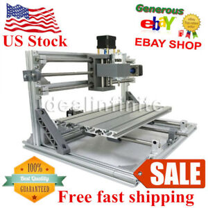 Us 3 Axis Cnc 3018 Diy Router Kit Usb Wood Engraving Carving Pcb Milling Machine