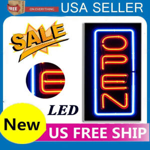 Led Open Sign Rectangular Hang Waterproof Neon Light Outdoor Business Sign Pvc Z