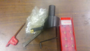 Bridgeport Milling Machine 3 4 Shank Fly Cutter Set Carbide Inserts