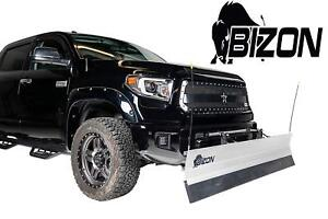 Bizon Aluminum Snow Plow Fits 1999 2007 Chevy Silverado Gmc Sierra 1500 Only