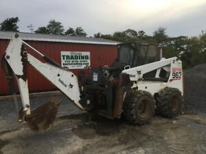 2002 Bobcat 963g Skid Steer Loader W Cab 2sd 811 Backhoe Attachment