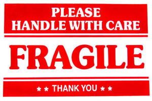 2x3 Fragile Sticker Handle With Care Quality Stickers Thank You New Stock 2021