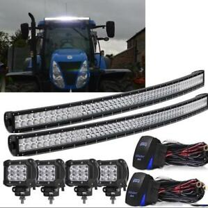Led Combo Light Bar Tractor Combine Industrial Backhoe Deere Cat Case Massey Ih