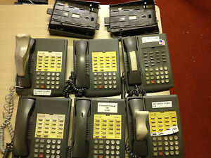 Lot Of 6 Non display Lucent Partner 18 Phones gray